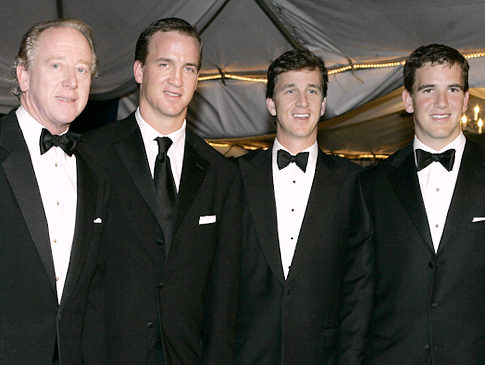Archie with sons (from left) Peyton, Cooper and Eli